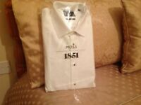 Men's brand new White Evening shirt size 16 collor