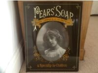 Pears Soap wall display on glass