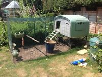 Eglu cube chicken coop with FREE electric fence and other accessories