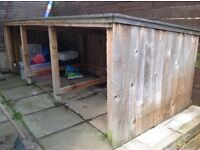 Large wooden lean-to shed for garden storage or just use the wood for something else
