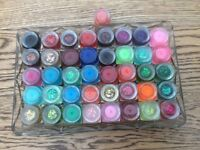 MANICURE - SELECTION 48 UV GEL BUILDERS FOR NAIL TECHNICIAN. VARIOUS COLOURS. AND SPARKLES