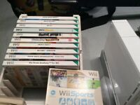 Wii console with 11 games, Wii Fit board and much more