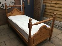 Gorgeous Single Bed Frame And Quality Nearly New Mattress.