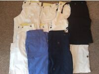 Bundle 10 x pairs of ladies shorts various colours, white, navy and blue.