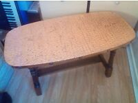 Beaten Copper Topped Table - lovely condition