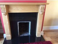Solid oak fireplace 4 and a half inch thickness from focus fireplace immaculate