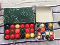 "Aramith 1 3/4"" Snooker Balls + Pool Balls 1 1/2"" (not Aramith)"