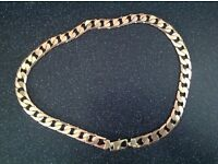 9ct gold heavy curb chain