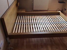 IKEA Double Bed & Bedside Unit.