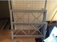 Silver metal bed frame