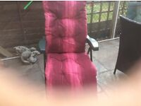 2 coral pink loungers.as new hardly used. From the range.