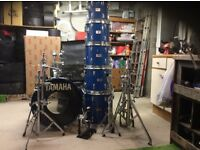 Yamaha 8000 Cobalt Blue Drum Kit & Assorted Hardware
