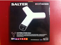 Electronic Kitchen Scale by Salter (brand new, in unopened packaging)