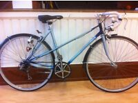 """Classic unisex racer - fully refurbished 20"""" Raleigh Misty - 5-speed, dynamo lights, mudguards"""