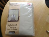 Curtains (never used) 90x90 inches, cream