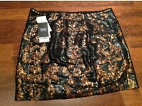 Next sparkly bronze and black skirt new with tag size 12