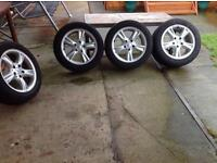 Mercedes alloys with tyre