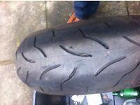 rear tyrte bt016 190/50/17 used 5.4.5m.5m
