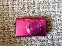 Fuji Film Point and Shoot Camera in Pink