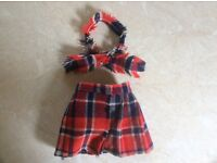 DOLL CLOTHES - Quilt and matching Scarf