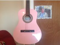 Full size Herald guitar six sting in pink