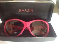 Ralph Lauren designer ladies sunglasses in raspberry