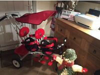 Twin Trike Tricycle 1-6 Years USED 3 TIMES RRP £150...