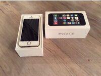 Apple I phone 5s white/gold