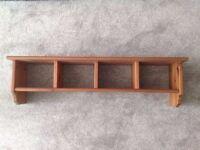 Ikea LEKSVIK Wall Shelf in Solid Pine Wood, Very Good Condition!