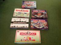 Six Monopoly Sets