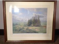 Large watercolour painting Kings Course Gleneagles