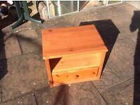 Pine cabinet (hi fi / tv /telephone table) FREE