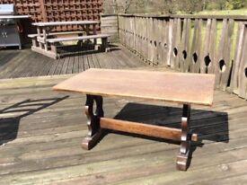 Coffee table in dark wood