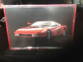 FRAMED POSTER PICTURE OF A FERERRI TESTEROSSA GOOD CONDITION