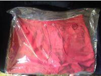 Brand New John Lewis Mens Designer lined swimming trunks(Shorts) in Dark Red, size 3XL