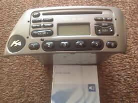 Ford KA CD/RADIO 6000CD RDS IN SILVER