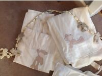 Nursery curtains, bedding, lampshade & rug 'Loved so much' 'Once Upon a Time'