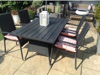 Rattan garden patio/conservatory table and 4 chairs £140 Ono tel 07966921804