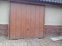 Oak effect uPVC up and over garage door