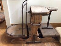Oak and iron sack scales