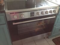 Montpellier double cavity cooker and ceramic hob