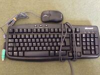 Microsoft keyboard and mouse.