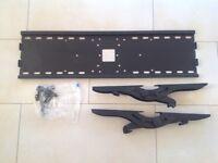 Black tilting TV wall mount bracket and fixings