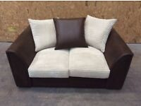 Byron Cord 2 Seater Sofa in mink & brown -new £149 inc free local delivery