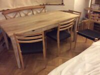 LOAF Oak Dining Table and 4 Chairs