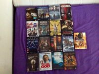 Assorted DVDs and Blurays