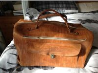 Tan Leather Travel Holdall