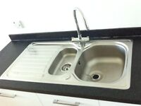 Kitchen sink with mixer tap (sold as set or individually)