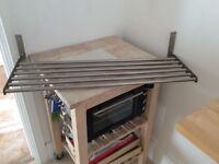IKia steel shelf 80cm.length.26cm.depth. £6
