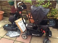 Joovy caboose ultralight sit & stand double buggy tandem pushchair pram board